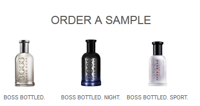 hugo boss sample